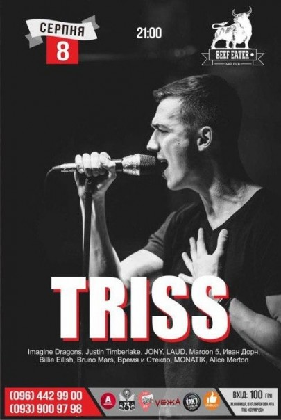 8 aug. cover-band TRISS