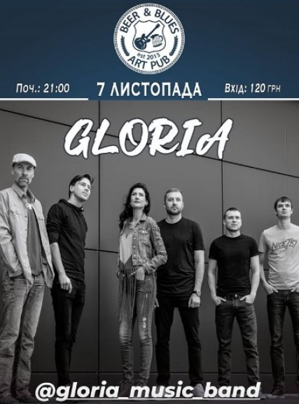 7 nov. GLORIA cover band